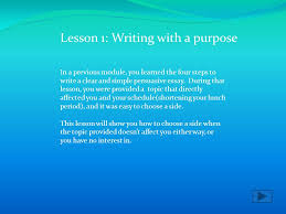 improving you writing skills is a necessary step for a well  in a previous module you learned the four steps to write a clear and simple