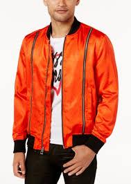 guess men s irvine satin double zip jacket
