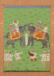 elephant fight mughal empire