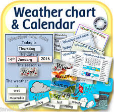 Details About Daily Weather Chart And Calendar In Pdf To Print Teaching Resources Cd Eyfs Ks1