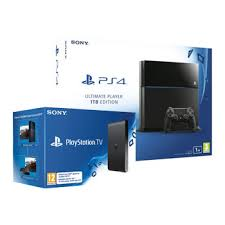 sony tv with ps4. ps4 1tb ultimate player edition with sony playstation tv : image 1 tv ps4 !
