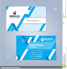 Card Design Template Blue And White Modern Creative And Clean Business Card