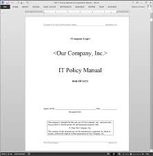 Security Manual Template IT Policy Manual ABR24MPM 1