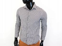 Details About O Reiss Mens Shirt Tailored Checks Grey Size L