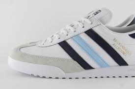 mens shoes new mens adidas originals beckenbauer white navy blue leather trainers 11 u43338