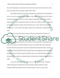 the teacher tough standards honesty essay the teacher tough standards honesty essay example