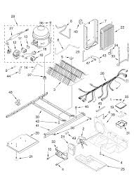 Whirlpool refrigerator ice maker parts diagram elegant kenmore elite side by side refrigerator parts
