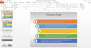 Simple Process Flow Template For Powerpoint Fl Process