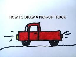 HOW TO DRAW A PICK UP TRUCK, LEARN HOW TO DRAW FOR KIDS, free video ...