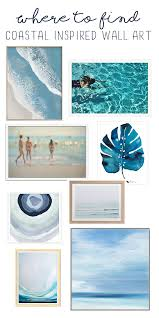 creative idea coastal wall art small home decoration ideas where to find light and bright beachy