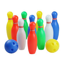 12 pcs skittles bowling set toy outdoor indoor bowling pins game with 2 for kids over old medium by yx toys for toys in australia