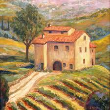 handmade tuscany italian vineyard landscape oil painting for wall throughout italian countryside wall art photo on tuscan vineyard wall art with wall art ideas italian countryside wall art explore 15 of 20 photos