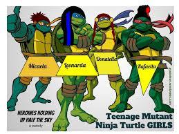 Teenage mutant ninja turtle girl