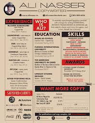 Senior Copywriter Resume Resume Contact Ali Nasser Copywriter 1