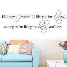 removable wall decals es i will love you forever home room decor vinyl wall decal e