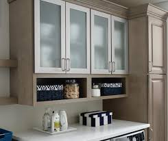 Image Shaker Style Hardin Laundry Room Storage Cabinets In Maple Seal With Aluminum Framed Doors Kemper Cabinets Aluminum Frame Cabinet Doors With Frost Glass Kemper