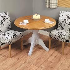 light grey painted oak veneer round dining table
