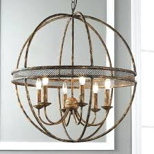 sophisticated metal sphere chandelier polished