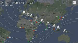 British Airways Miles Chart Selecting Redemption Destinations On The Edges Of The