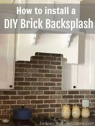 Kitchen Backsplash How To Install Classy How to Install a DIY Brick Backsplash Binkies and Briefcases