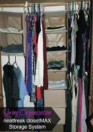 photo 8 of 9 closet max good ideas spring organization storage system neatfreak hanging shelf organizer