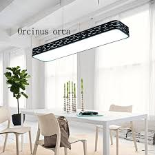 Ultra minimalist office Office Furniture Ultra Bright Led Office Chandelier Modern Minimalist Rectangular Dining Room Lamp Lamp Studio Studio Chandelier Decoist Ultra Bright Led Office Chandelier Modern Minimalist Rectangular