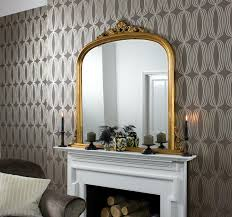 toulouse gold overmantle mirror