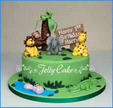 Jelly Birthday Cake Design Jungle 1st Birthday Cake A 1st Birthday Cake Designed Arou