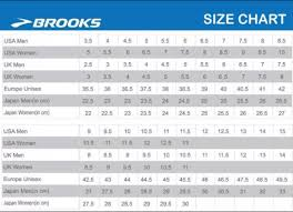 Brooks Size Chart Efficient Brooks Shoes Width Size Chart 2019
