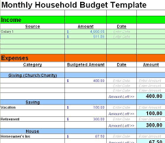 Samples Of Budget Spreadsheets Excel Budget Template Budget Spreadsheet Sample Budget