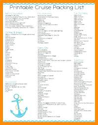 Cruise Vacation Packing Checklist Printable – Celebratelife