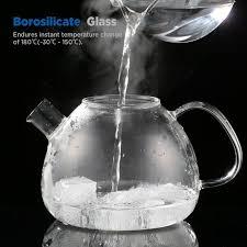 ecooe 1500ml 53oz stovetop glass teapot