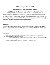 Questions To Ask At Job Shadow Combined Career Assignments