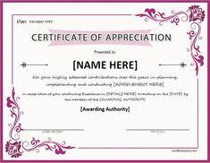 Certificate Of Appreciation Free Download Nice Editable Certificate Of Appreciation Template Example With