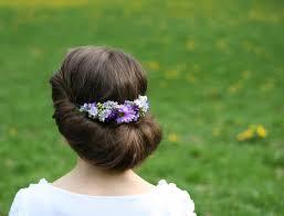 Kvetinové čelenky Venčeky Spoločenský účes Dozdobený Kvetinovou