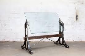 drafting table desk. Custom Made Drafting Table Desk - Glass, Steel, Wood, Brass W