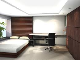 office bedroom design. Amazing Japanese Interior Design With Natural Looks : Small Bed Carpet Floor Office Desk Minimalist Bedroom