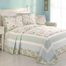 light blue paint wall design ideas combine with king charles matelasse coverlet plus wall art