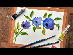 how to paint easy flower in watercolor