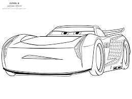Cars 3 Coloring Pages Jackson Storm Get Coloring Pages