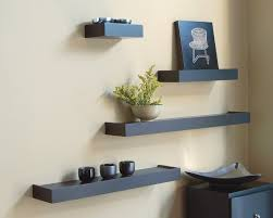 interior comely black modern wall shelves design ideas with simply shaped  design at adorable cream