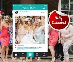 bridal shower instagram frame photo booth hens party bespoke design personalised frames instagram photo prop