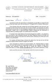 Letter Of Support From Achim Steiner