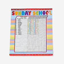 Sunday School Chart Ideas Sunday School Attendance Sticker Charts Sunday School