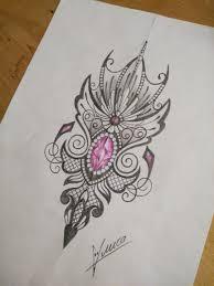 сделать татуировку орнамент на бедро 12x20 см в городе москва по