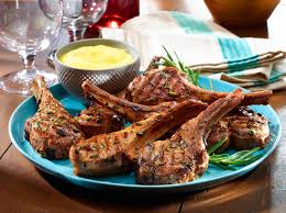 Spanish Lamb Chops With Alioli Sauce