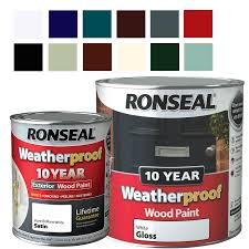 exterior wood paint colours uk. ebay listing - weatherproof 10 year exterior wood paint gloss / satin all colours 750ml uk