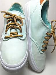 details about vans off the wall tb4r sneakers classic skate mint green leather laces shoes 10m