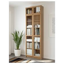 uncategorized ikea billy bookcase with glass doors appealing billyoxberg bookcase oak veneer cm ikea of