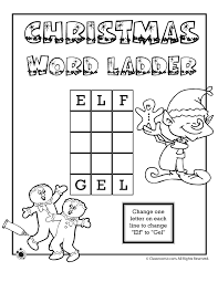 Christmas Worksheets - Word Ladders